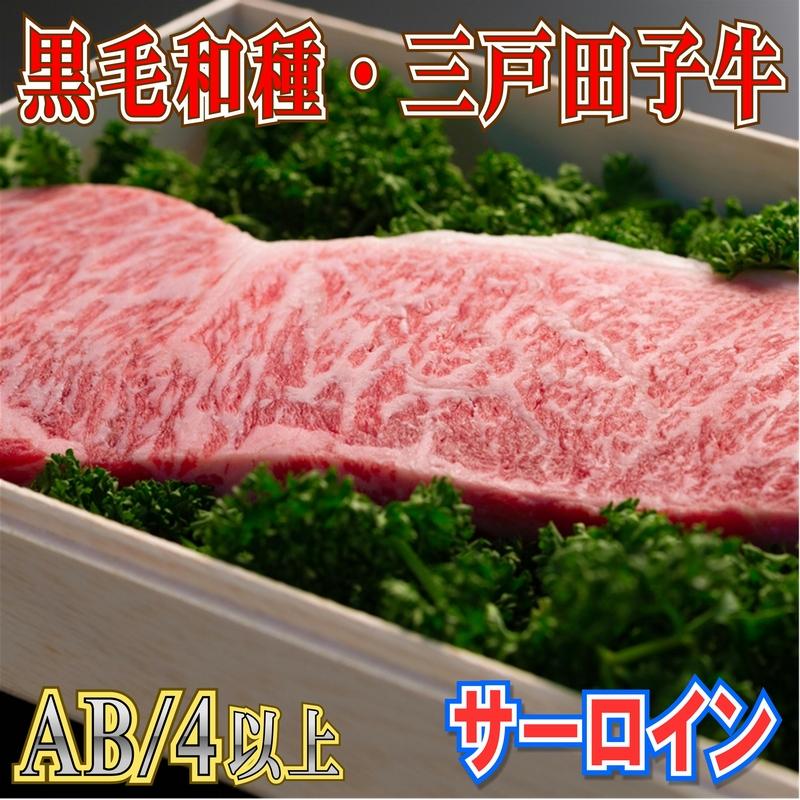 【ふるさと納税】黒毛和牛A4・B4等級以上「三戸田子牛」【サーロイン・200g】