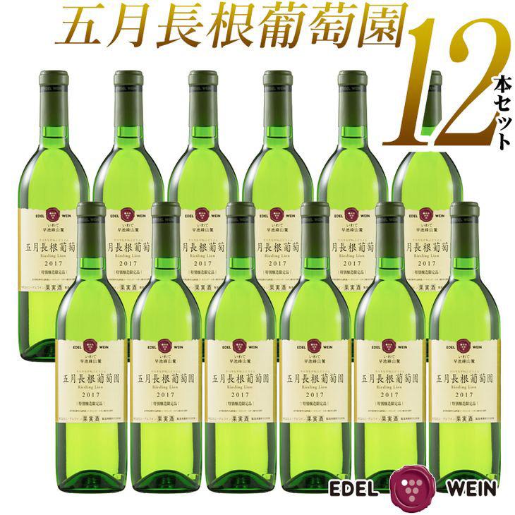 【ふるさと納税】エーデルワイン 五月長根葡萄園 リースリングリオン 白《やや辛口》12本セット