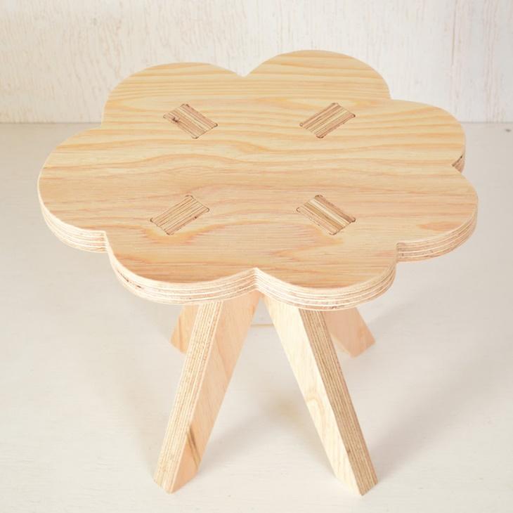 【ふるさと納税】木製イス《くも》OTOMO STOOL mini 子供 椅子