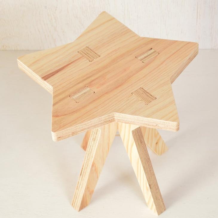 【ふるさと納税】木製イス《ほし》OTOMO STOOL mini 子供 椅子