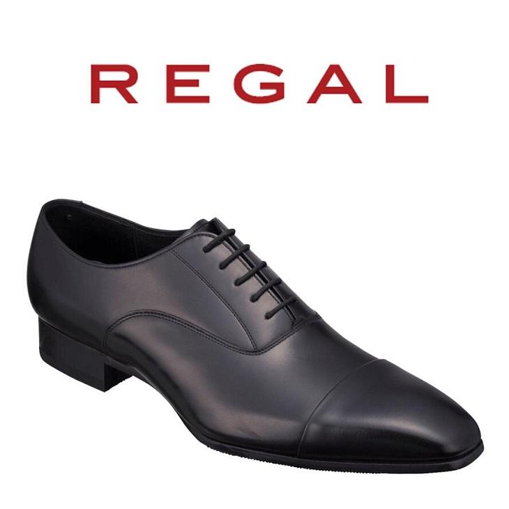 【ふるさと納税】REGAL紳士靴ブラック10LR ストレートチップ 数量限定 奥州市産モデル[AM03]