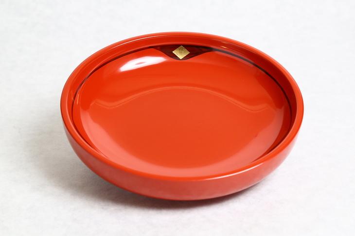 【ふるさと納税】◆1ヶ月10組限定◆ 秀衡塗盛皿18cm金千代 朱[BS20]
