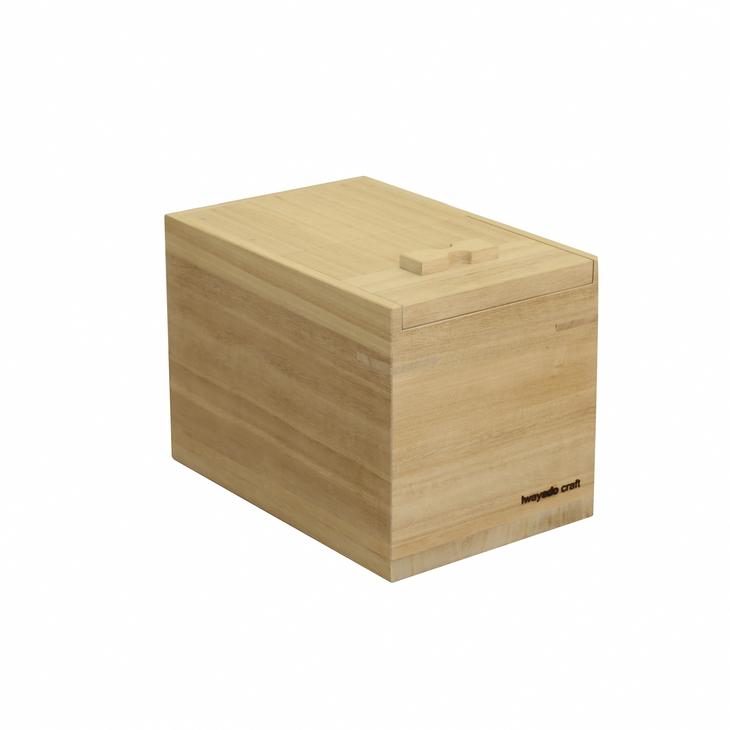 【ふるさと納税】岩谷堂箪笥職人が作るIwayado craft 米びつ 3kg 木地仕上げ[AF01]