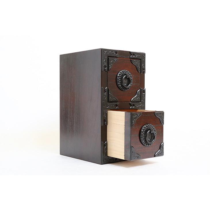 【ふるさと納税】岩谷堂箪笥職人が作るIwayado craft 二ツ小抽出 漆仕上げ[AF10]