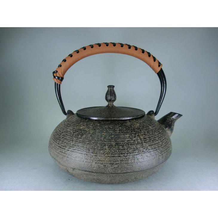 【ふるさと納税】南部鉄器 鉄瓶 平丸糸目[Y045]