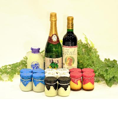 配送員設置送料無料 ※アウトレット品 くずまきワインの人気銘柄とくずまき高原牧場のヨーグルト プリンセット ふるさと納税 1231816 人気ワインと牧場ヨーグルト
