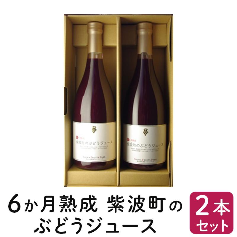 【ふるさと納税】6か月熟成紫波町のぶどうジュース2本セット