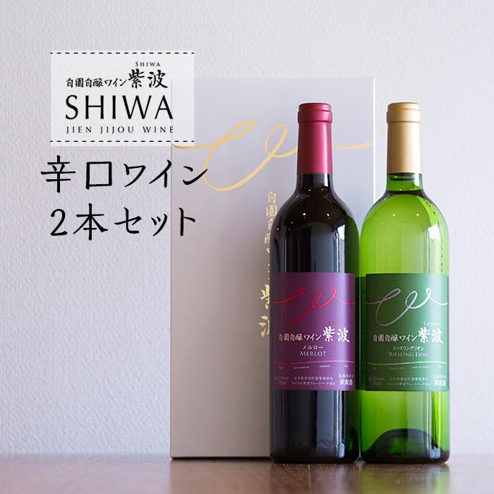 【ふるさと納税】1027自園自醸ワイン紫波 辛口ワイン2本セット