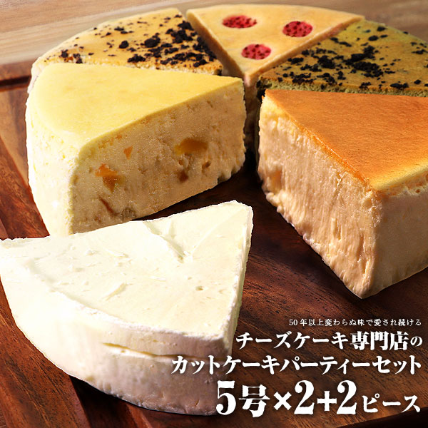 【ふるさと納税】チーズケーキ専門店のカットケーキ5号×2+2ピース