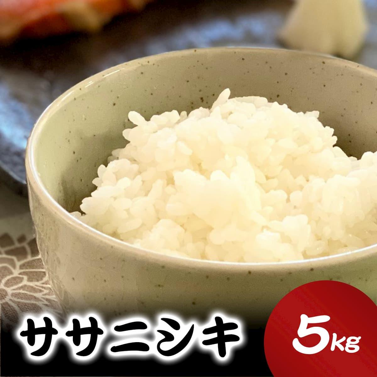 【ふるさと納税】いしのまき産米「ササニシキ」(精米)5kg