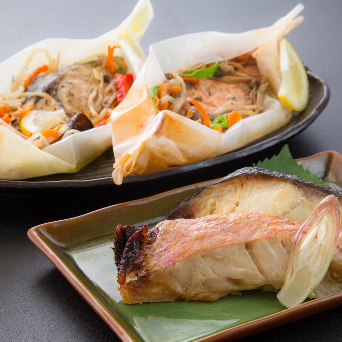 【ふるさと納税】レンジで簡単!閖上海鮮西京漬け&包み焼きセット