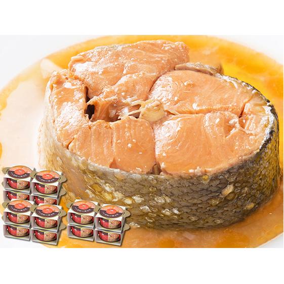 【ふるさと納税】【マルヤ水産】宮城県産銀鮭の醤油煮缶詰 180g×4缶:3セット 【魚貝類・鮭・サーモン・加工食品】