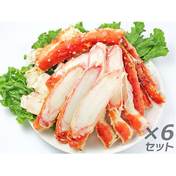 宮城県亘理町 百貨店 ふるさと納税 かに ボイル たらばがに 笹切 蟹 マルヤ水産 魚貝類 カニ 1kg×6パック入 完売