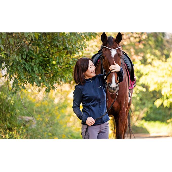 【ふるさと納税】木漏れ日の中で森林浴を味わう乗馬体験・外乗60分コース 【体験チケット】 お届け:2020年1月下旬より順次発送