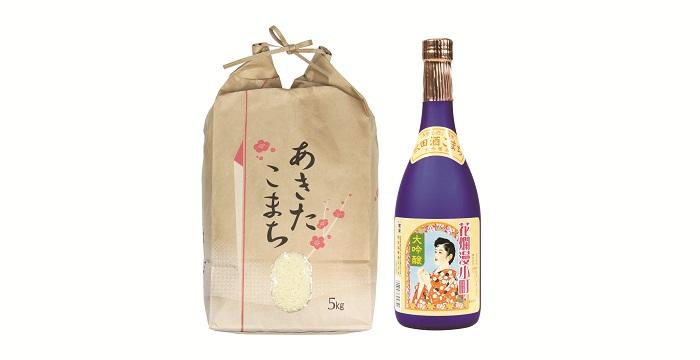 【ふるさと納税】令和元年産米 H2301 秋田県産あきたこまちと地酒セット