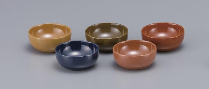 【ふるさと納税】C5504 川連漆器 3寸小鉢5色セット