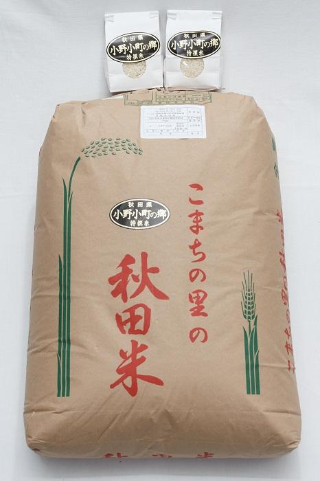 【ふるさと納税】D2203 小野小町の郷特撰米あきたこまち1等玄米30kg+精米450g×2袋