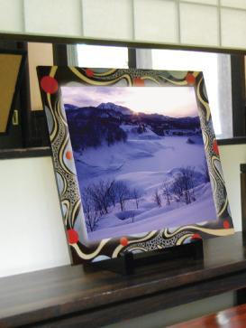 【ふるさと納税】F8202 川連漆器×LED額縁【伝統と新しさの融合】慶流