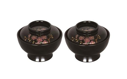 【ふるさと納税】I5601 川連漆器 五寸大椀 蓋付 桜模様