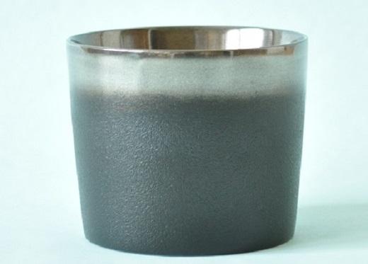 【ふるさと納税】I6301 川連漆器 銀彩カップ(黒)