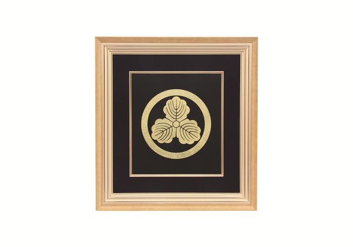 【ふるさと納税】E6101 川連漆器 パネル額(家紋・社印)