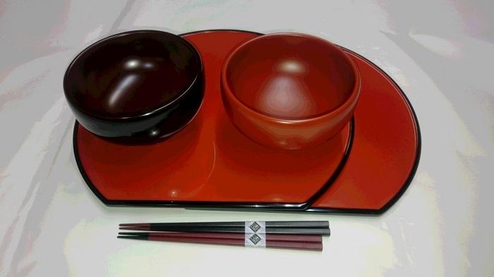 【ふるさと納税】E5302 川連漆器 稲庭うどん椀・御膳箸セット