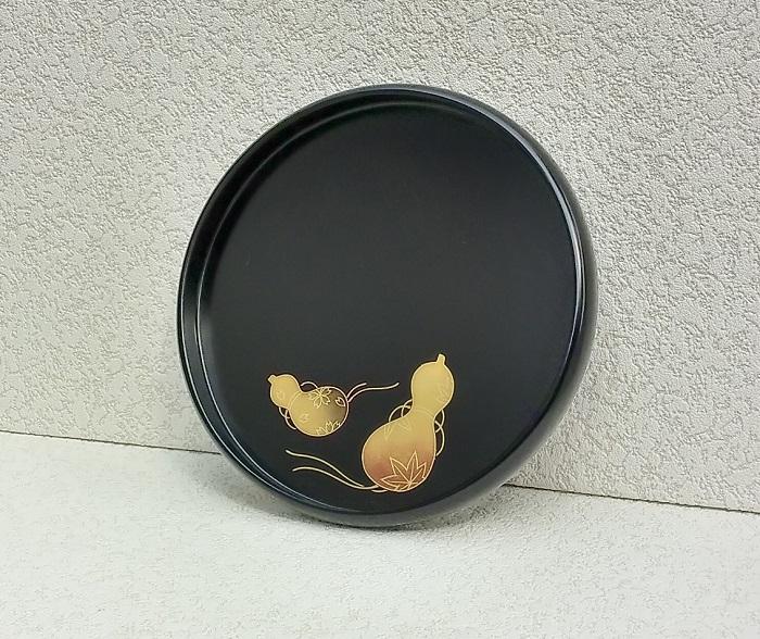 【ふるさと納税】C6201 川連漆器 丸盆 ひさご