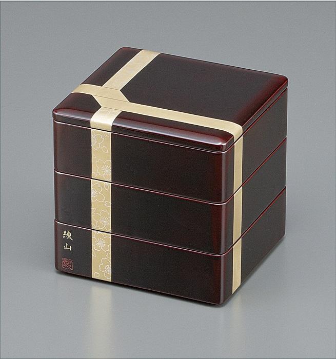 ふるさと納税 F5603 川連漆器 三段重箱 6.5分溜内朱 マーケティング チープ