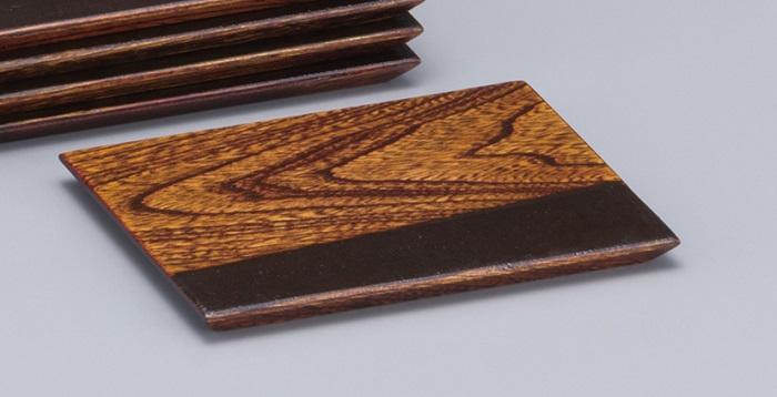 【ふるさと納税】H5603 川連漆器 角銘々皿 木目布張 5枚組