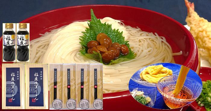 【ふるさと納税】B1504 稲庭手業うどん「食べ比べ」つゆ付(約16人前)