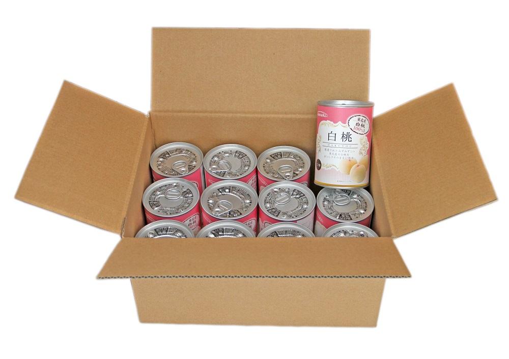 【ふるさと納税】D42327 東北産白桃缶詰12缶セット