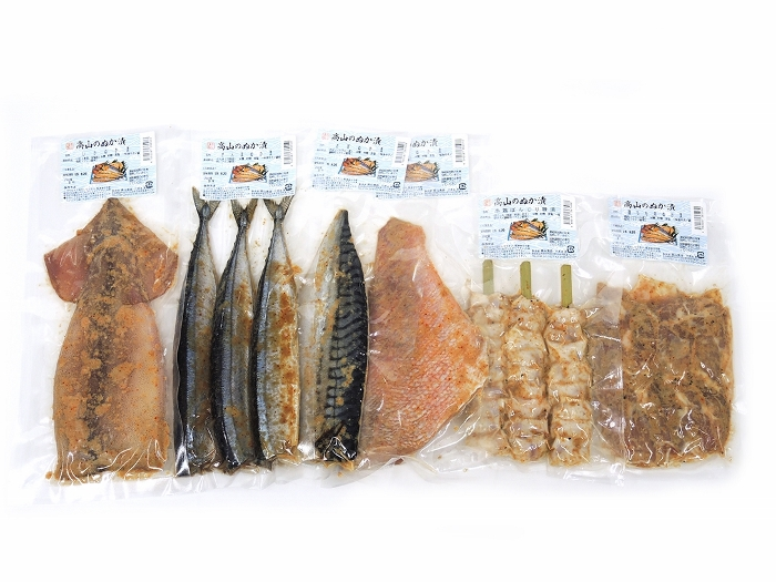 ふるさと納税 C47303 魚 送料0円 肉糠漬セット さんま いか 鶏もも肉 人気急上昇 串鶏ぼんじり 赤魚 さば