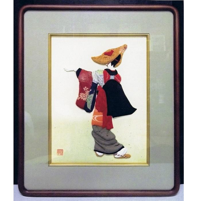 【代引可】 【ふるさと納税】D01 西馬音内(にしもない)盆踊り押絵額, キソサキチョウ 6996e311
