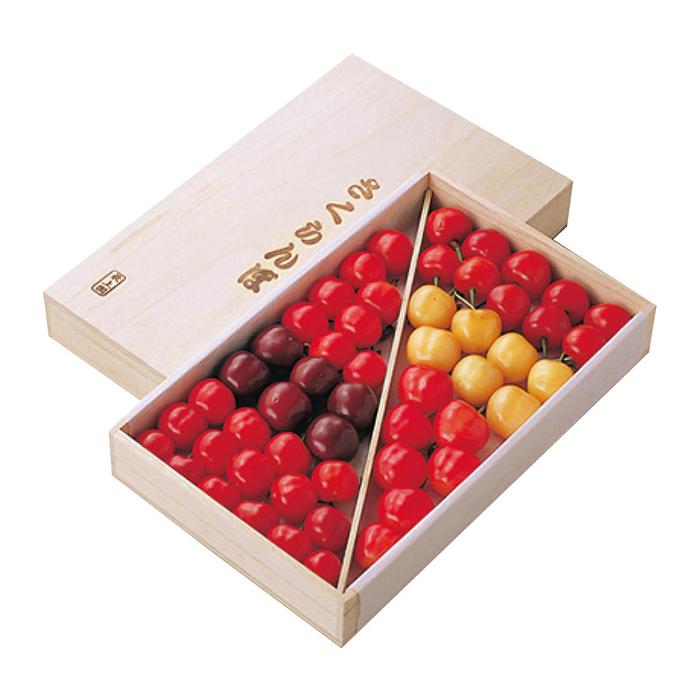 【ふるさと納税】 さくらんぼ6種詰合せ 500~550g(桐箱/特秀/2L)