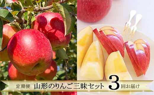 【ふるさと納税】FY19-641 【定期便3回】 山形のりんご三昧セット
