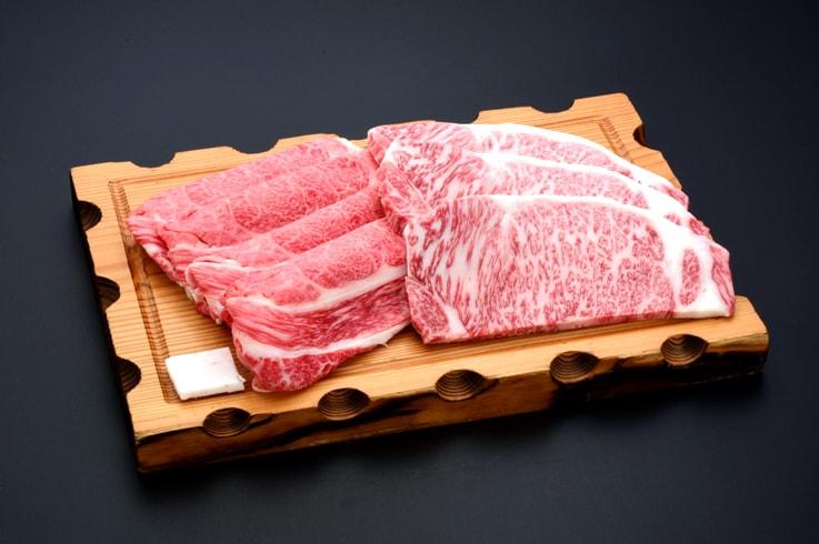 【ふるさと納税】米沢牛すき焼き・ステーキ詰合せ 牛肉 和牛 ブランド牛