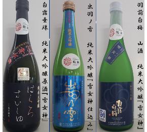 【ふるさと納税】B71-001 酒米『雪女神』飲み比べ3本セット