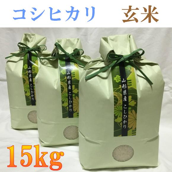 【ふるさと納税】B01-066 特別栽培米コシヒカリ玄米15kg