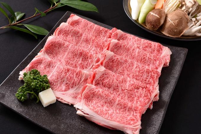 【ふるさと納税】山形牛「もち米給与牛」すき焼き用(400g)肩ロース