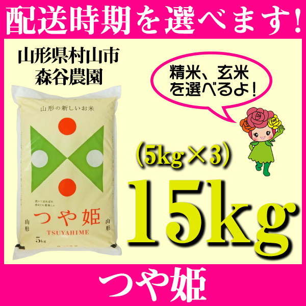 【ふるさと納税】 米 15kg 5kg×3 つや姫 精米 玄米 令和元年産 山形県村山市産 送料無料