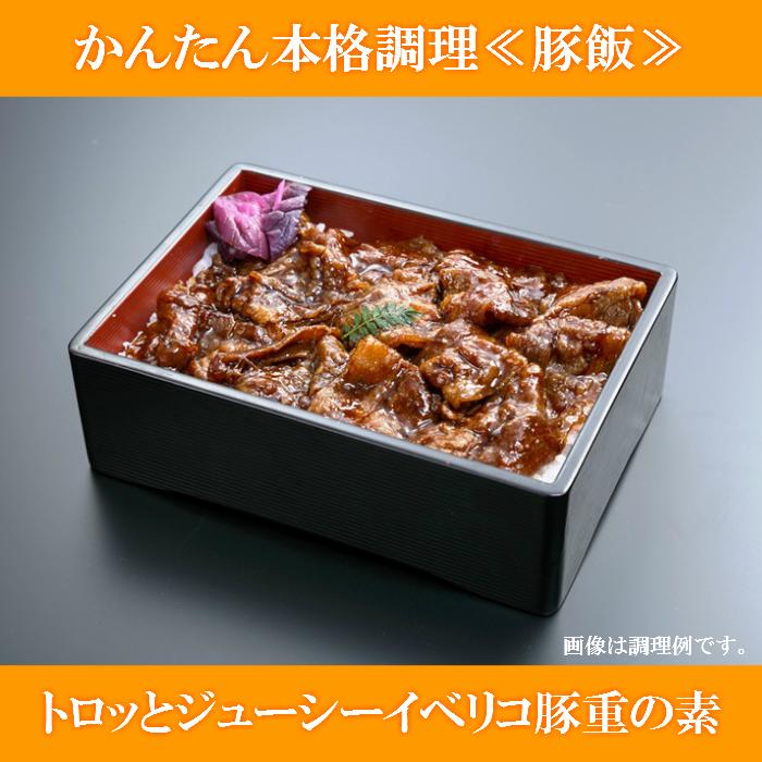 【ふるさと納税】A-0108 かんたん本格調理≪豚飯≫トロッとジューシーイベリコ豚重の素