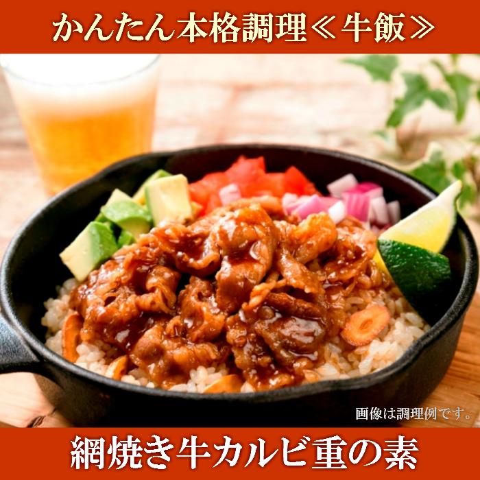 【ふるさと納税】A-0127 かんたん本格調理(牛飯)網焼き牛カルビ重の素