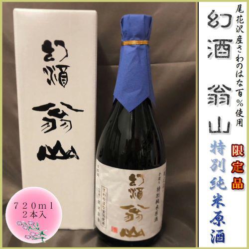 【ふるさと納税】地酒 幻酒 翁山 特別純米原酒 720ml×2本