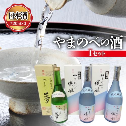 【ふるさと納税】山形県産 やまのべの酒 Iセット 日本酒720ml×3