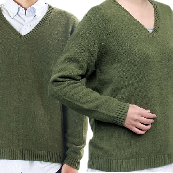 【ふるさと納税】大江の職人の手動編みオーダーメイドカシミア100%Vネックセーター 【ファッション・セーター】