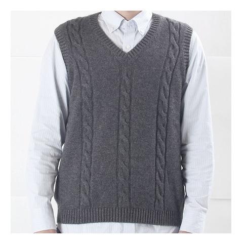 【ふるさと納税】大江の職人の手動編みオーダーメイドカシミア100%Vベスト(男性用) 【ファッション・ベスト・メンズ】