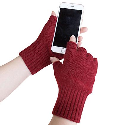 【ふるさと納税】大江の職人の手動編み カシミア100%ニットスマホ用手袋(カラー6種) 【ファッション/バッグ】