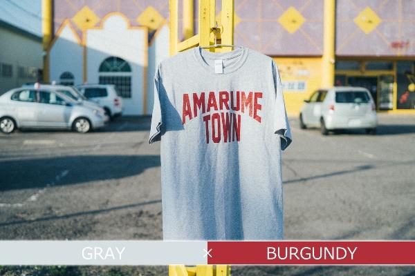 【ふるさと納税 AMARUME TOWN】復刻 AMARUME TOWN Tee(GRAY×BURGUNDY), ゲットプラス:3093e3b6 --- vietwind.com.vn