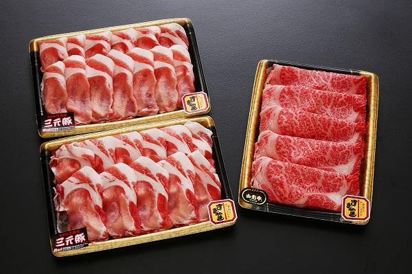 【ふるさと納税】庄内豚と山形牛のすきやきセット