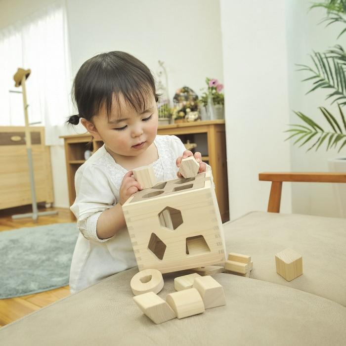 【ふるさと納税】檜のおもちゃ IKONIH ドロップボックス